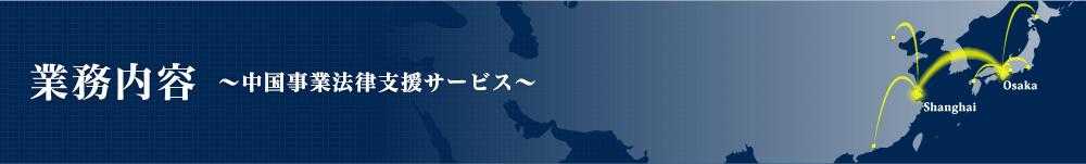 中国事業法律支援サービス