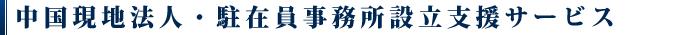 中国現地法人・駐在員事務所 設立支援サービス概要