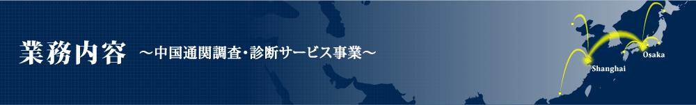 業務内容-中国通関調査・診断サービス事業
